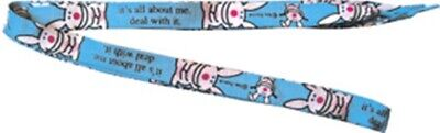 """Happy Bunny it's all about me. deal with it. Logo 42"""" Shoelaces 2005 NEW UNUSED"""