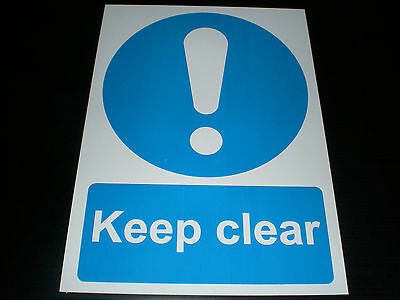 Keep Clear Plastic Sign Or Sticker Choice Of Sizes Emergency Exit Door Fire