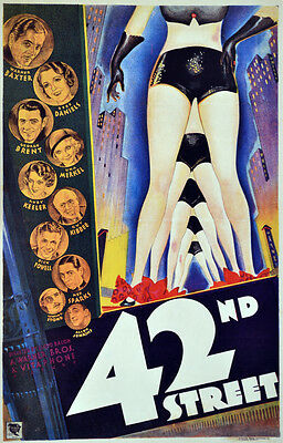 Show in 42nd Street performance Decorative Poster. Home Graphic Art Design. 4129