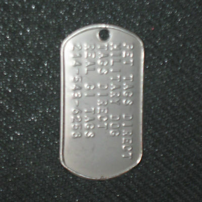 Real US Military Dog Tag Fast Shipping