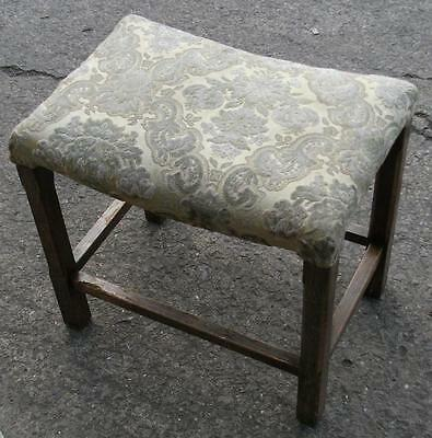 LITTLE STOOL DRESSING MUSIC SEWING OR PIANO STOOL SADDLE SEAT ART DECO 1930's