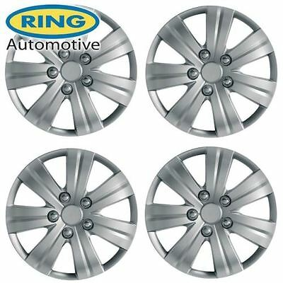 Universal 16 Inch Silver Flare Set Of 4 Wheels Trims / Hub Caps By Ring