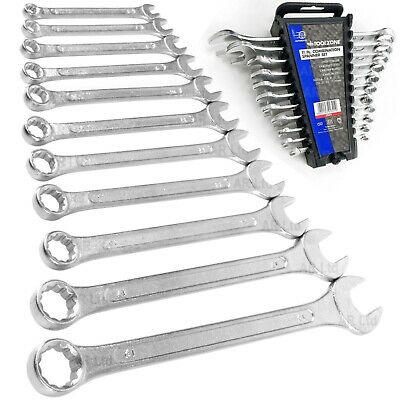 Spanner Set. Set of 11 Metric Combination Spanners 6 - 19mm Hand Wrenches