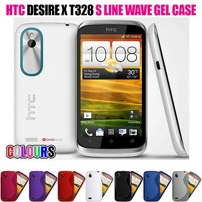 S LINE WAVE SOFT GEL SKIN CASE SCREEN PROTECTOR FOR HTC DESIRE X
