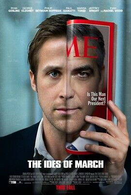 THE IDES OF MARCH MOVIE POSTER 2 Sided ORIGINAL 27x40