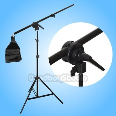 AU Studio 75-135cm Photo Top Light Boom Arm w/ Weight Bag + 2m Light Stand Kit