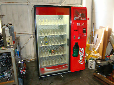 Dixie Narco Glass Front Vendor Vending Machine Coca Cola