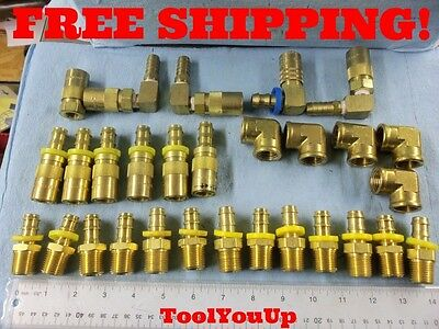 """Lot Of 1/2"""" Npt Brass Pipe Female 90 Degree Anbarbed Fittings Industrial Tools"""