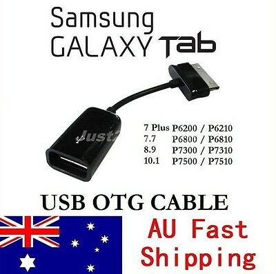 USB OTG Host Cable Adapter Connection Kit For Samsung Galaxy Tab 10.1 8.9 7.7