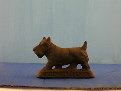 Vintage Cast Iron Scottish Terrier Figurine Scottie dog