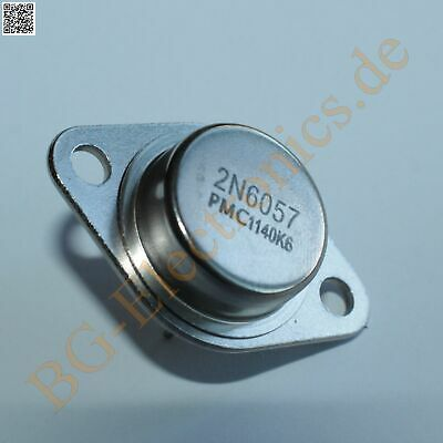 2 x 2N6057 NPN Power Transistor 150W 12A  PMC TO-3 2pcs