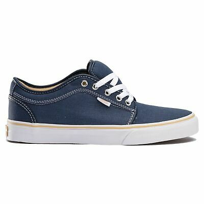 Vans Shoes Chukka Low Youth Navy / Washed Canvas / White Skate Kids Boys
