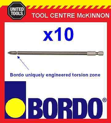10 x BORDO IMPACT PH2 X 150mm POWER INSERT BITS – GEAT FOR IMPACT DRIVERS!