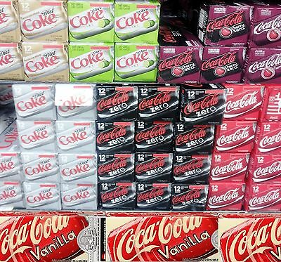 Coca Cola Coke Soda Pop In Cans ( 12 Pack ) ~ Many Flavors * Pick One