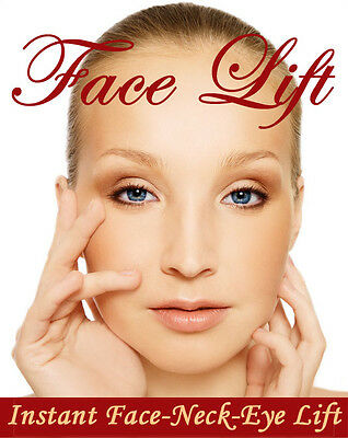 Instant Face, Neck and Eye Lift, Facelift Tapes and Bands. 40 piece set