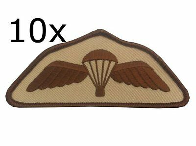 10 x Parachute Regiment Airborne Desert Subdued Wings Para Badge Army Military