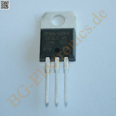 5 x BTA06-600CW TRIAC (  Sensitivity CW = 35mA Snubberless )  STM TO-220 5pcs