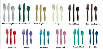 120 Pieces Assorted Premium Plastic Cutlery Party Supplies bulk lot of tableware