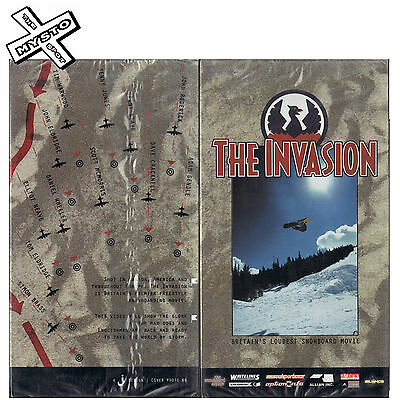 The Invasion Classic British Snowboard Movie Film Snow Board Brand New