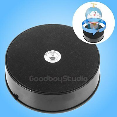 [AU] 1KG Loading 14cm LED 3D Photo 360° Rotating Display Stand Turntable BLACK