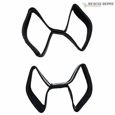 Heavy Duty Figure 8 Eight Double Loop Lifting Straps Strength Gym Wrist Support
