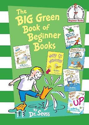 The Big Green Book of Beginner Books by Dr Seuss (English) Hardcover Book Free S