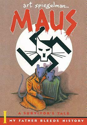 Maus: A Survivor's Tale by Art Spiegelman (English) Paperback Book Free Shipping