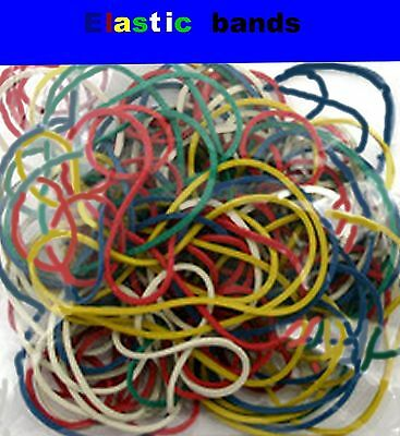 rubber elastic bands blue brown green red neon white yellow choose colour size