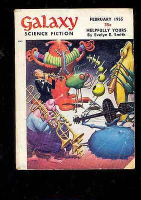 (PULP) GALAXY SCIENCE FICTION vol. 9 n° 5, 02.1955 édition originale USA c. EMSH