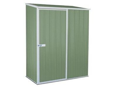 Absco Spacesaver Garden Storage Shed 1.5m x 0.8m Colorbond or Zincalume 15081SK