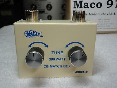 MACO MODEL 91 BASE/MOBILE 26-28 MHZ ANTENNA MATCHER,W/3' BELDEN COAX CABLE!!!