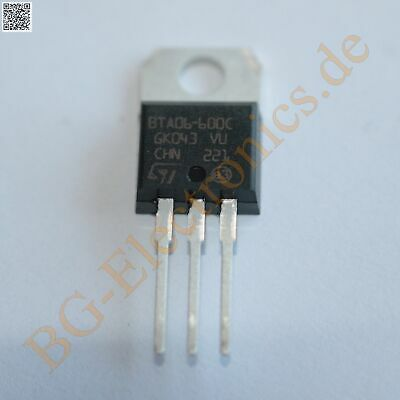 2 x BTA06-600C TRIAC STM TO-220 2pcs