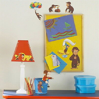 Curious George Animation Peel and Stick Wall Decals Appliques NEW SEALED