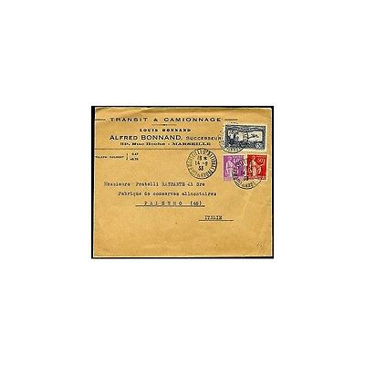 1933 - France - Cover To Palermo With Air Mail 1,50 F - Dnt260