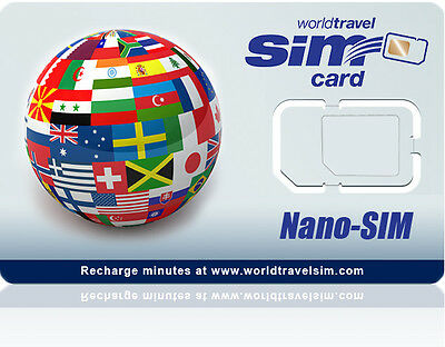 Nano SIM card - Works in the USA and 220 Countries - Includes $20.00 Credit
