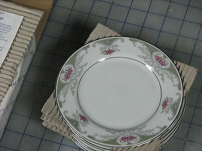 """alberon translucent fine china made in japan lot of four new #4144 6 1/2"""" round"""