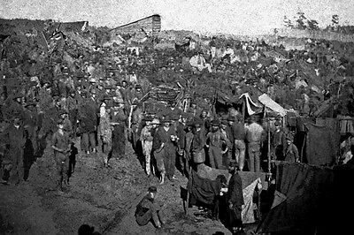 New 5x7 Civil War Photo: Federal Prisoner Soldiers at Andersonville Prison