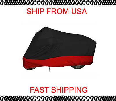 In Door Black Red Motorcycle Cover For Yamaha Majesty 400 YP400 Scooter