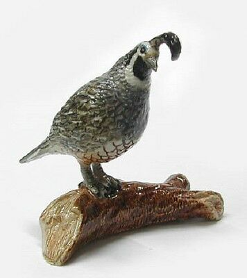 R010 - Northern Rose Miniature  -  Quail on a Branch