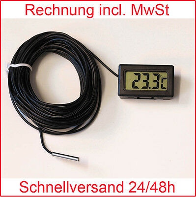 Thermometer digital LCD -50°+110°C Kabellänge: 2m 3m 5m 10m  Digitalthermometer