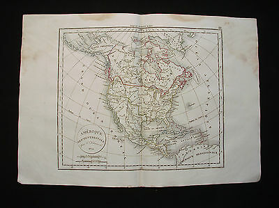 1834 FELIX. rare map of United States of America, USA, Canada Mexico Texas N.Y.