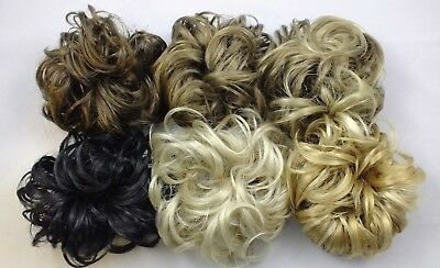 "Scrunchie LACEY 3.5"" Curly Hair Ponytail Holder Hairpiece Synthetic COLORS 1-26"