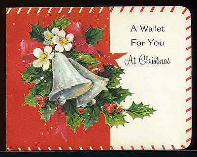 Vintage 1940's 50's Christmas Cash money Wallet Card by American Greetings