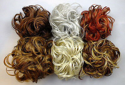 """Scrunchie LACEY 3.5"""" Curly Hair Ponytail Holder Hairpiece COLORS 27 - R150"""
