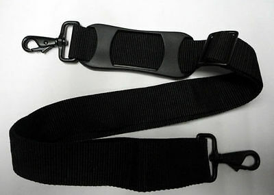 """Black Replacement Shoulder Strap 1 1/2"""" x 51"""" LG Adjustable for Luggage, Duffle"""
