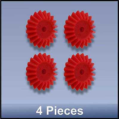 27 MM 20 TOOTH MODULE 1 BEVEL PRECISION MOULDED PUSH-FIT NYLON GEAR - 4 pieces