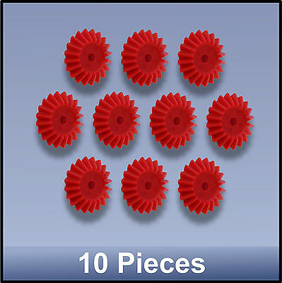27 MM 20 TOOTH MODULE 1 BEVEL PRECISION MOULDED PUSH-FIT NYLON GEAR - 10 pieces