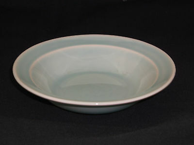 T.S.& T. LuRay Pastel Seafoam Minty Surf Green Berry Bowl with Rim