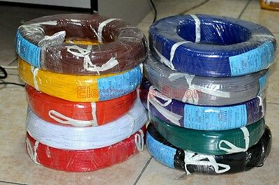 UL-1007 22AWG Hook-up Wire, 10 Colors to Choose, Cable.
