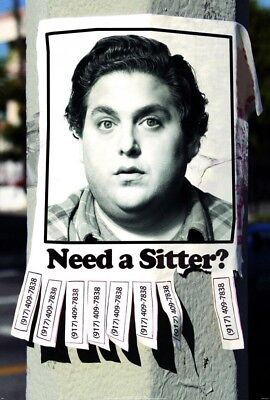 THE SITTER MOVIE POSTER 2 Sided ORIGINAL Advance 27x40 JONAH HILL